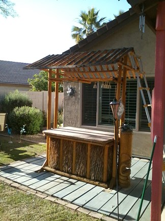 Captivating A Tiki Bar With No Roof. Seems Simple Enough To Put A New One On, Right?  You Just Find The Material (thatch, Staples, Twist Ties), ...